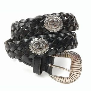 Accessories - Genuine Leather Boho Braided Belt size Small